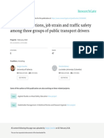 Working Conditions, Job Strain and Traffic Safety Among Three Groups of Public Transport Drivers