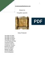 Relação dos Evangelhos Apócrifos.doc