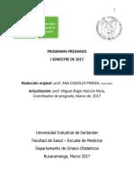 Programa Pregrado i Semestre de 2017