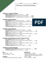 tda essay summative grading sheet