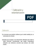 Calibración y Estandarización