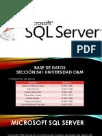 PRESENTACION DE SQL Server