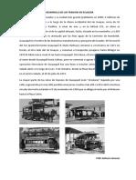Desarrollo de Los Tranvías en Ecuador