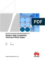 Huawei FusionCloud Desktop Solution 6.1 System High Availability Technical White Paper