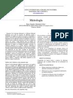 Informe metrologia sensores