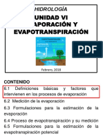 Evaporacion y Evapotranspiracion Hidrologia