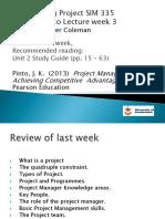 Week 3 SIM 335 Lecture