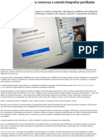 Facebook Confirma Que Lê as Conversas e Controla Fotografias Partilhadas No Messenger