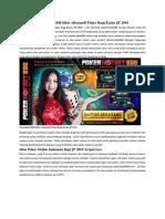 Pokerhotbet888 Situs Alternatif Poker Bagi Kartu JP 2018