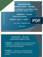 SEMINARIO TALLER DISEÑO INSTRUCCIONAL