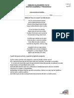 Evaluaciòn de Estructura Lìrica