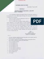 Notice - AOR Exam June 2018