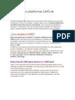 Las 5 Mejores Plataformas LMS