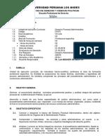Silabo Procesal Administrativo 2018