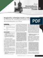 Descentralizacion y Gobierno Locales