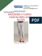Moldes y Curso de Pantalones Jeans Mujer