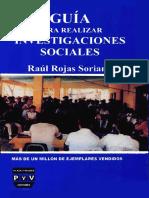 Guía Para Realizar Investigaciones Sociales - Raúl Rojas Soriano