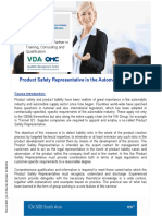 131_Product Safety Representative in the Automobile Industry