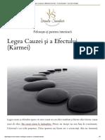 Legea Cauzei Şi a Efectului (Karmei)