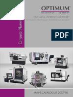 Optimum Cnc Katalog 2017-18 En