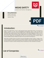 Midas Safety PPT Procurement and Inventory Management