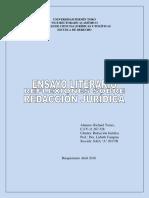 Ensayo Literario Sobre Redaccion Juridica