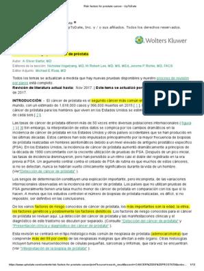 estudio de agente naranja y cáncer de próstata
