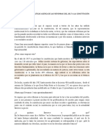 REFORMAS A LA CONSTITUCIÓN DE MÉXICO.