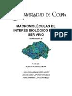Macromoléculas de Interés Biológico en El Ser Vivo