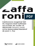 Honoris Causa Zaffaroni