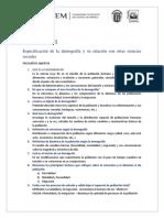 CAPITULO1 Especificación de La Demografía y Su Relación Con Otras Ciencias Sociales