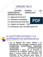 Unidad 5 Auditoria Interna 2017