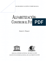 Alfabetización, Construir El Futuro. Wagner
