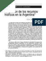 Bruzzone La Gestión de Los Recursos Hídricos en La Argentina