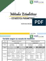 Métodos Estadísticos - Unidad II