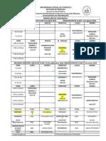 Horarios Fisioterapia Ucv 2017-2018