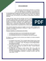 Etica de Mercado e Investigacion de Mercadotecnia