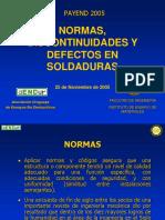 Normas, Discontinuidades y Defectos en Soldaduras - Payend 2