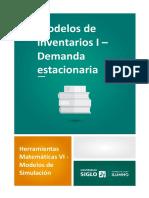 Modelos de Inventarios I - Demanda Estacionaria