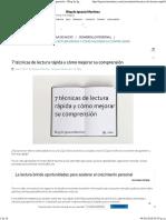 7 Técnicas de Lectura Rápida y Cómo Mejorar Su Comprensión - Blog de Ignacio Martínez