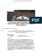 Cifuentes Se Habría Examinado El Mismo Día Que La Selección Celebró La Eurocopa de 2012 en Madrid _ Elplural.com