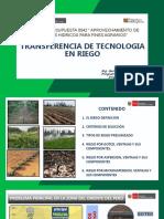 Presentación Transferencia de Tecnologia en Riego
