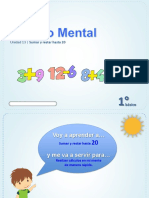 Cálculo Mental, sumar y restar hasta 20.pptx
