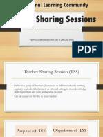 PLC Teacher Sharing Session