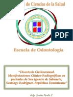 Disostosis Cleido Craneal. Investigacion de Campo