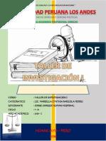 Caratula de Derecho Taller de Investigacion i