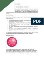 Química i Medio. Ind. 1 Guía de Modelos Atómicos