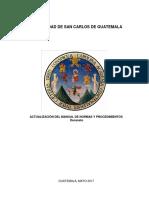 01 Manual de Normas y Procedimientos -Decanato