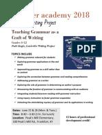 grammar academy flyer 2018