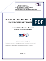 Normes Et Standards de Qualite en Education